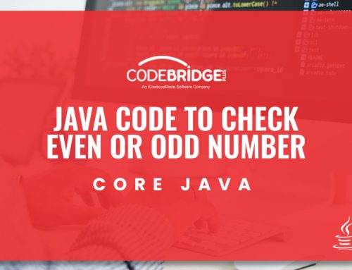 Java code to check Even or Odd number