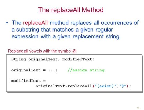Java String replaceAll()