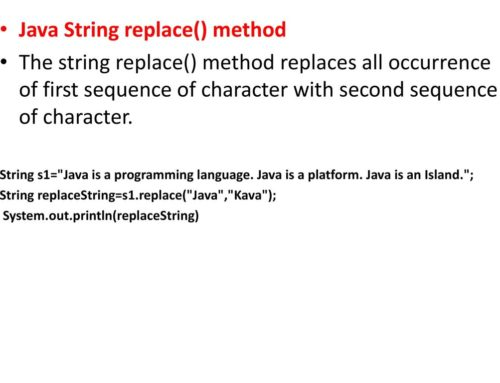Java String replace()