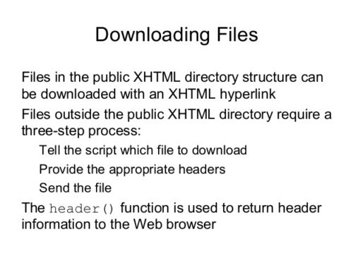 PHP Download File