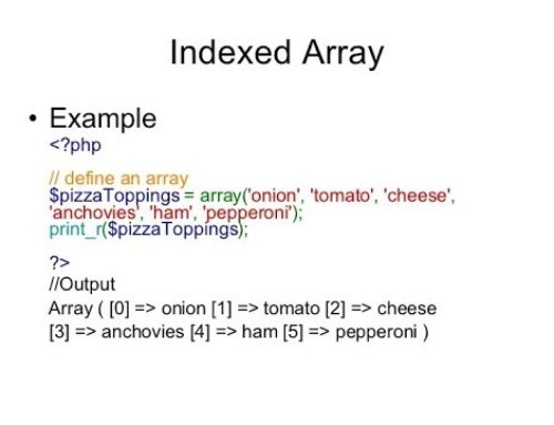PHP Indexed Array