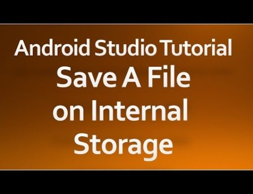 Android Internal Storage Example
