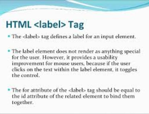 HTML Label Tag