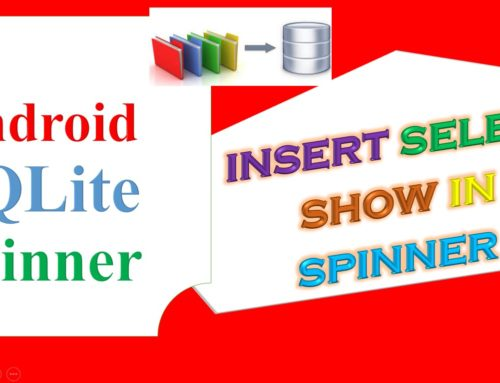 Android Sqlite Example (with Spinner)